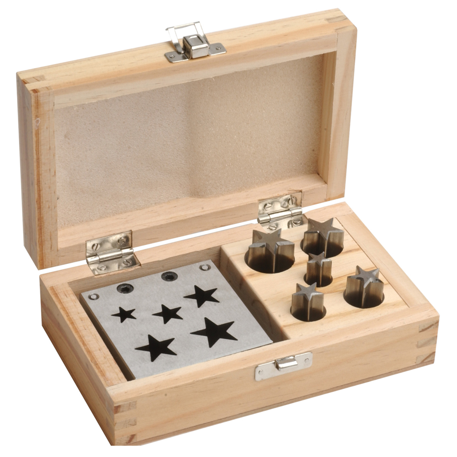 Star Shaped Set Of 5 Disc Cutters In Wood Box Ottofrei Com