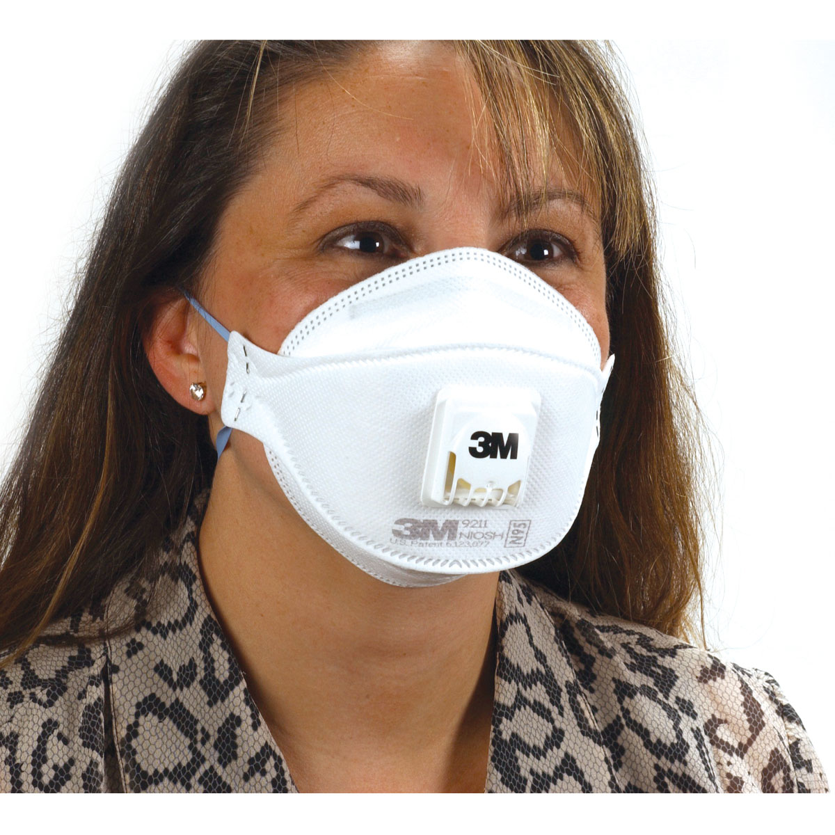 10/box n-95 valved particulate respirator face mask