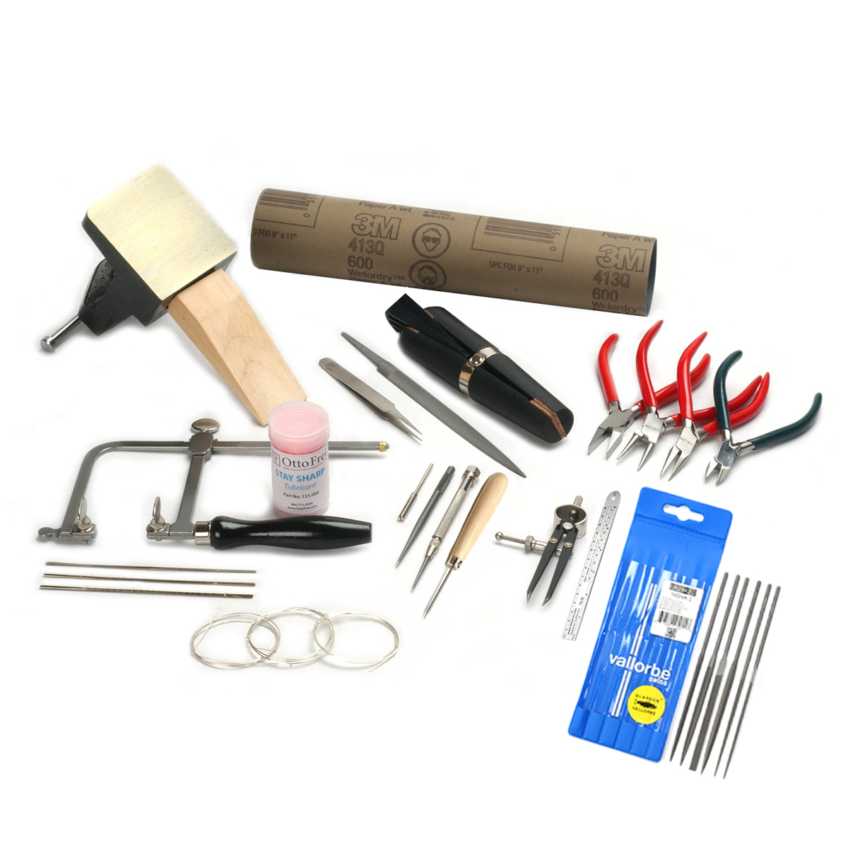 Flux Charcoal Solder Kit For Soldering Jewellery GOLD 11 Piece Silver -Torch