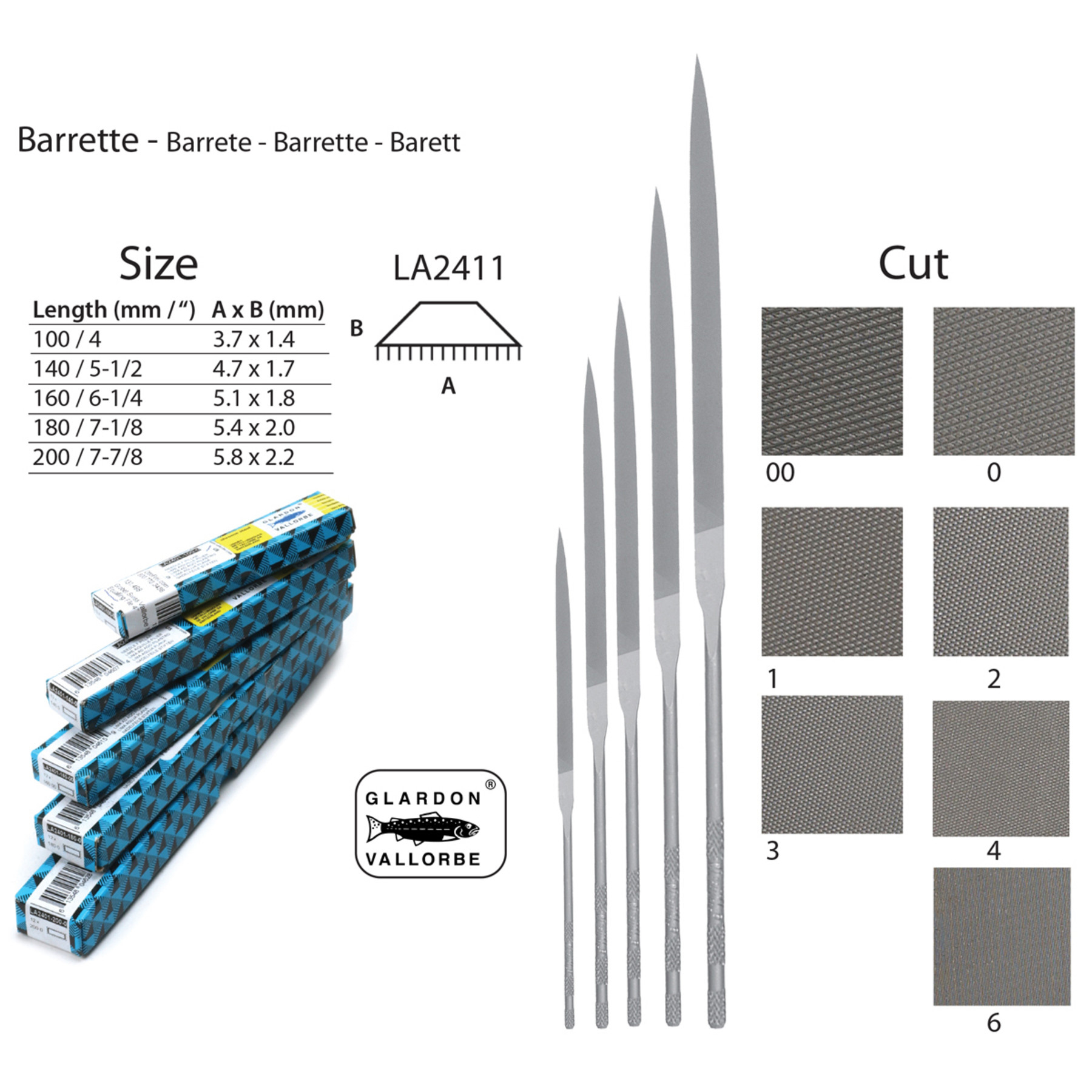 Barrette Needle Files - LA2411