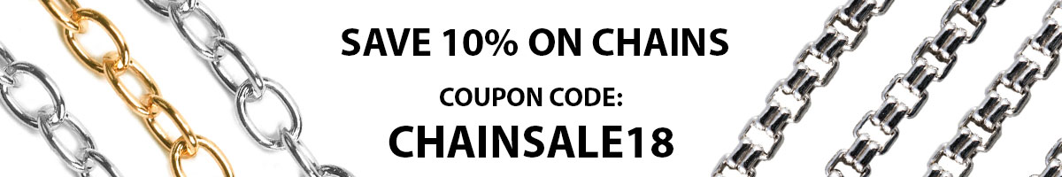 Save 10% on Chains with Copupon Code: CHAINSALE18